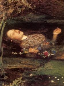 J. E. Millais le agregó la amapola en su traducción pictórica.