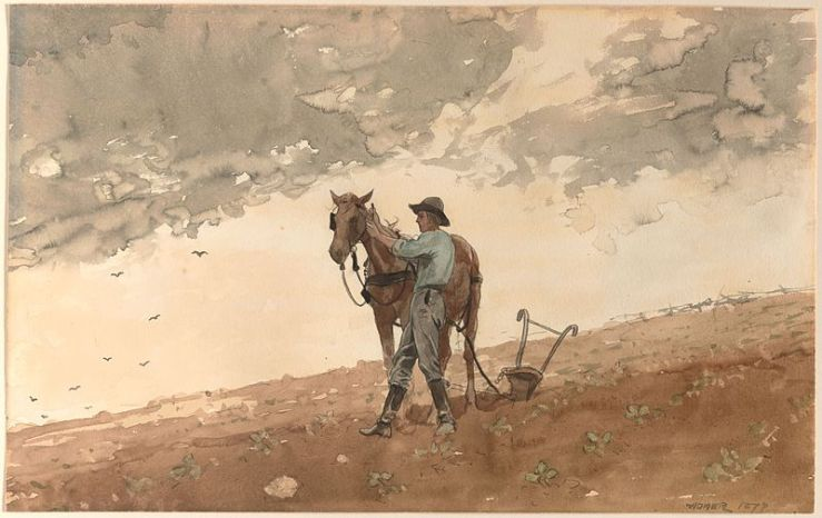 800px-Winslow_Homer_-_Man_with_Plow_Horse